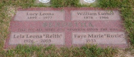 BEDORTHA, WILLIAM LUTHER - Yamhill County, Oregon | WILLIAM LUTHER BEDORTHA - Oregon Gravestone Photos