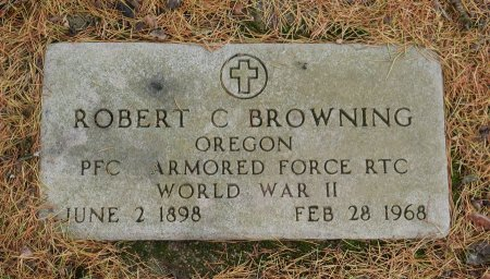 BROWNING, ROBERT CLIFTON - Yamhill County, Oregon | ROBERT CLIFTON BROWNING - Oregon Gravestone Photos