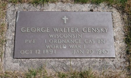 CENSKY, GEORGE WALTER - Yamhill County, Oregon   GEORGE WALTER CENSKY - Oregon Gravestone Photos
