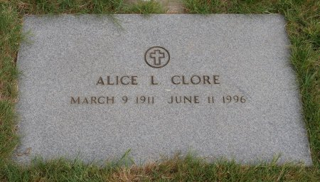 LOWERS CLORE, ALICE LENA - Yamhill County, Oregon | ALICE LENA LOWERS CLORE - Oregon Gravestone Photos