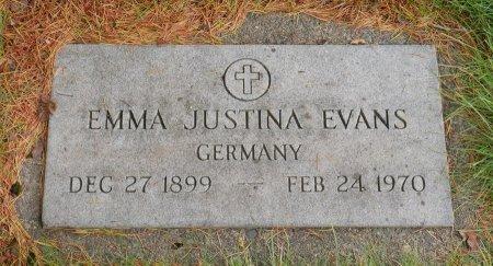 EVANS, EMMA JUSTINA - Yamhill County, Oregon   EMMA JUSTINA EVANS - Oregon Gravestone Photos