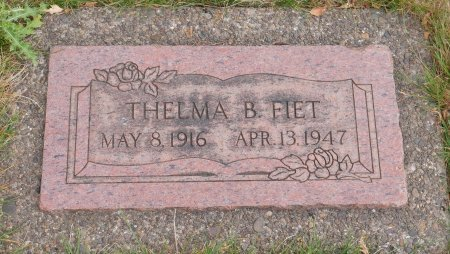 IVERSON FIET, THELMA B - Yamhill County, Oregon   THELMA B IVERSON FIET - Oregon Gravestone Photos
