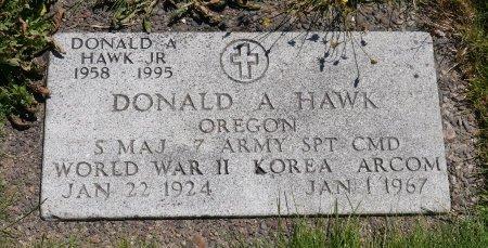 HAWK, DONALD A JR - Yamhill County, Oregon   DONALD A JR HAWK - Oregon Gravestone Photos