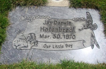 HOFENBREDLY, JAY DARWIN - Yamhill County, Oregon   JAY DARWIN HOFENBREDLY - Oregon Gravestone Photos