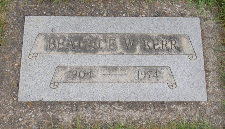 KERR, BEATRICE W - Yamhill County, Oregon | BEATRICE W KERR - Oregon Gravestone Photos