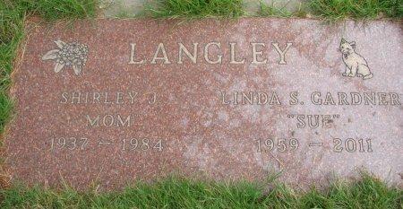 GARDNER LANGLEY, LINDA S - Yamhill County, Oregon | LINDA S GARDNER LANGLEY - Oregon Gravestone Photos