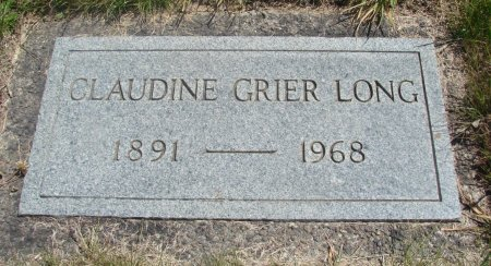GRIER LONG, CLAUDINE - Yamhill County, Oregon | CLAUDINE GRIER LONG - Oregon Gravestone Photos