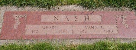 NASH, VANN L - Yamhill County, Oregon | VANN L NASH - Oregon Gravestone Photos