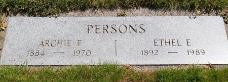 DANIEL PERSONS, ETHEL EDNA - Yamhill County, Oregon   ETHEL EDNA DANIEL PERSONS - Oregon Gravestone Photos