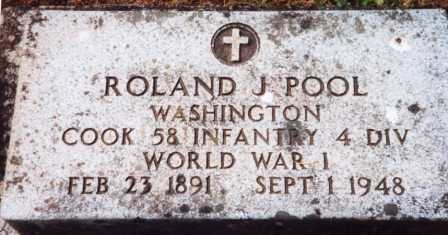POOL (WWI), ROLAND JOSEPH - Yamhill County, Oregon | ROLAND JOSEPH POOL (WWI) - Oregon Gravestone Photos