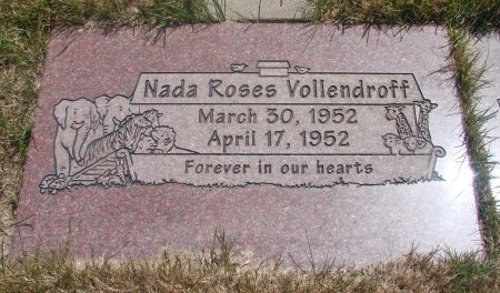 VOLLENDROFF, NADA ROSES - Yamhill County, Oregon   NADA ROSES VOLLENDROFF - Oregon Gravestone Photos
