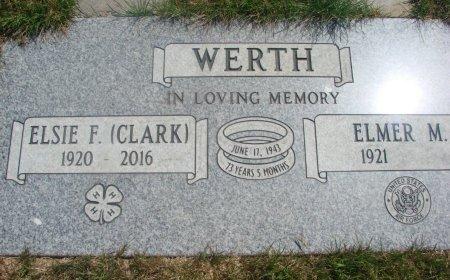 WERTH, ELMER MELTON - Yamhill County, Oregon | ELMER MELTON WERTH - Oregon Gravestone Photos