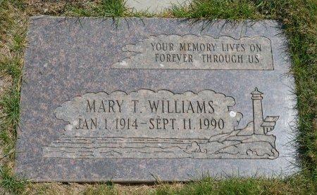 WILLIAMS, MARY T - Yamhill County, Oregon   MARY T WILLIAMS - Oregon Gravestone Photos