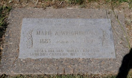 RAMBO WRIGHTHOUSE, MARIE AUGUST - Yamhill County, Oregon | MARIE AUGUST RAMBO WRIGHTHOUSE - Oregon Gravestone Photos