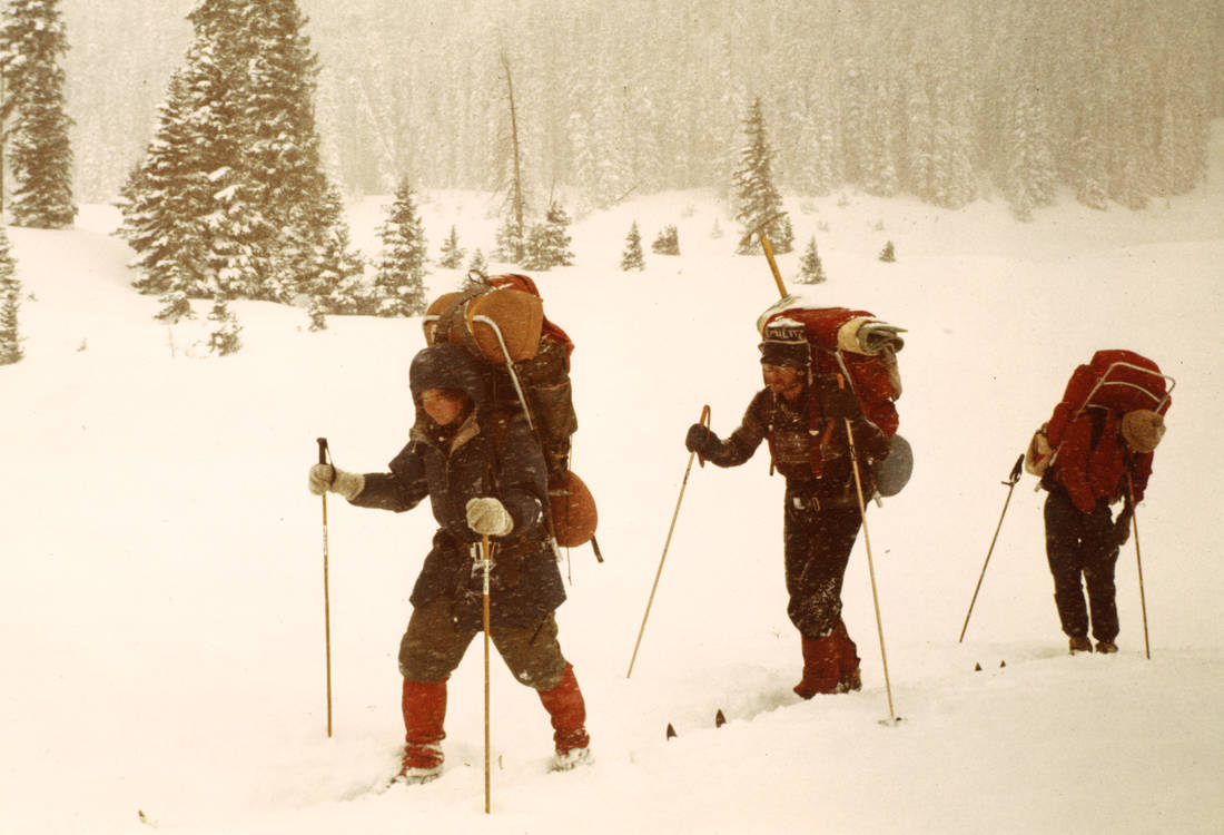 Cross-country skiing/backpacking
