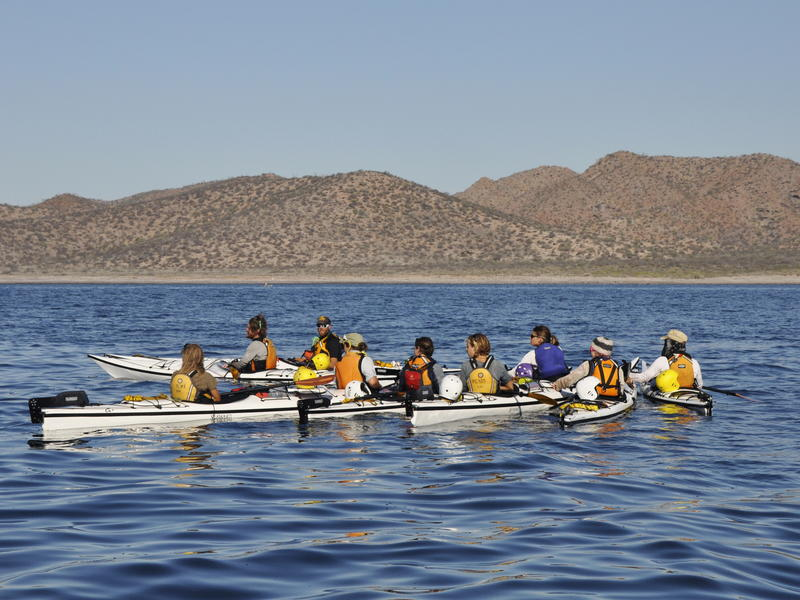 Kayaking for class - Photo by Naomi Blinick