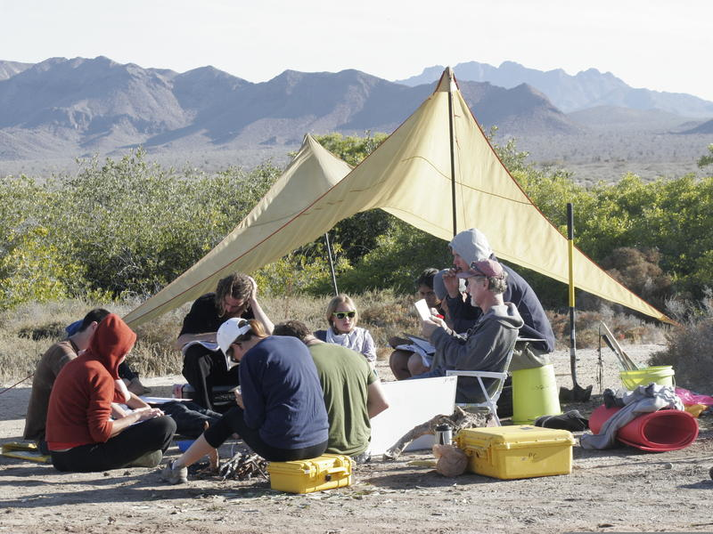 An outdoor classroom