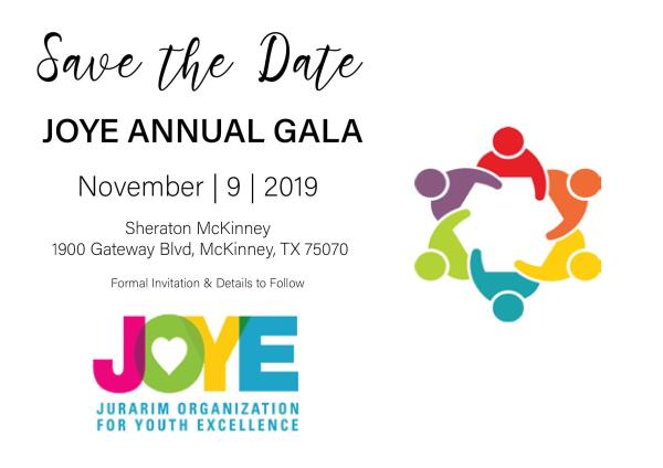 2019 JOYE Annual Education Gala logo
