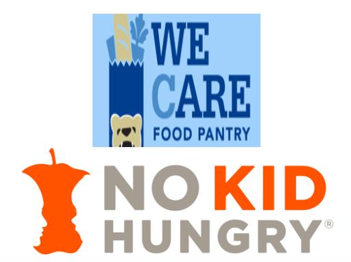 We CARE Food Pantry / No Kid Hungry (2 Charities) logo