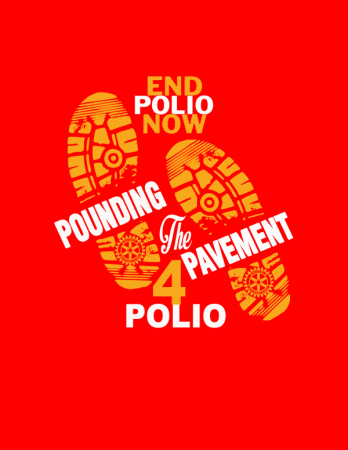 Pounding the Pavement for Polio logo