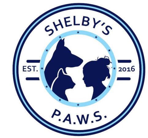Shelby's P.A.W.S. logo