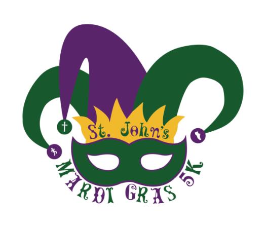 St. Johns Mardi Gras 5k logo