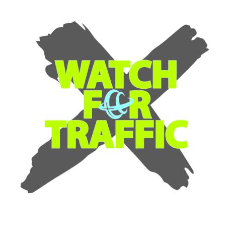 Watch for Traffic - Human Trafficking awareness logo