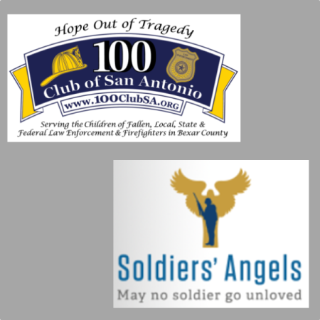 100 Club and Soldiers' Angels logo
