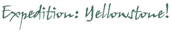 Reid Sanders Memorial Foundation - Expedition Yellowstone logo