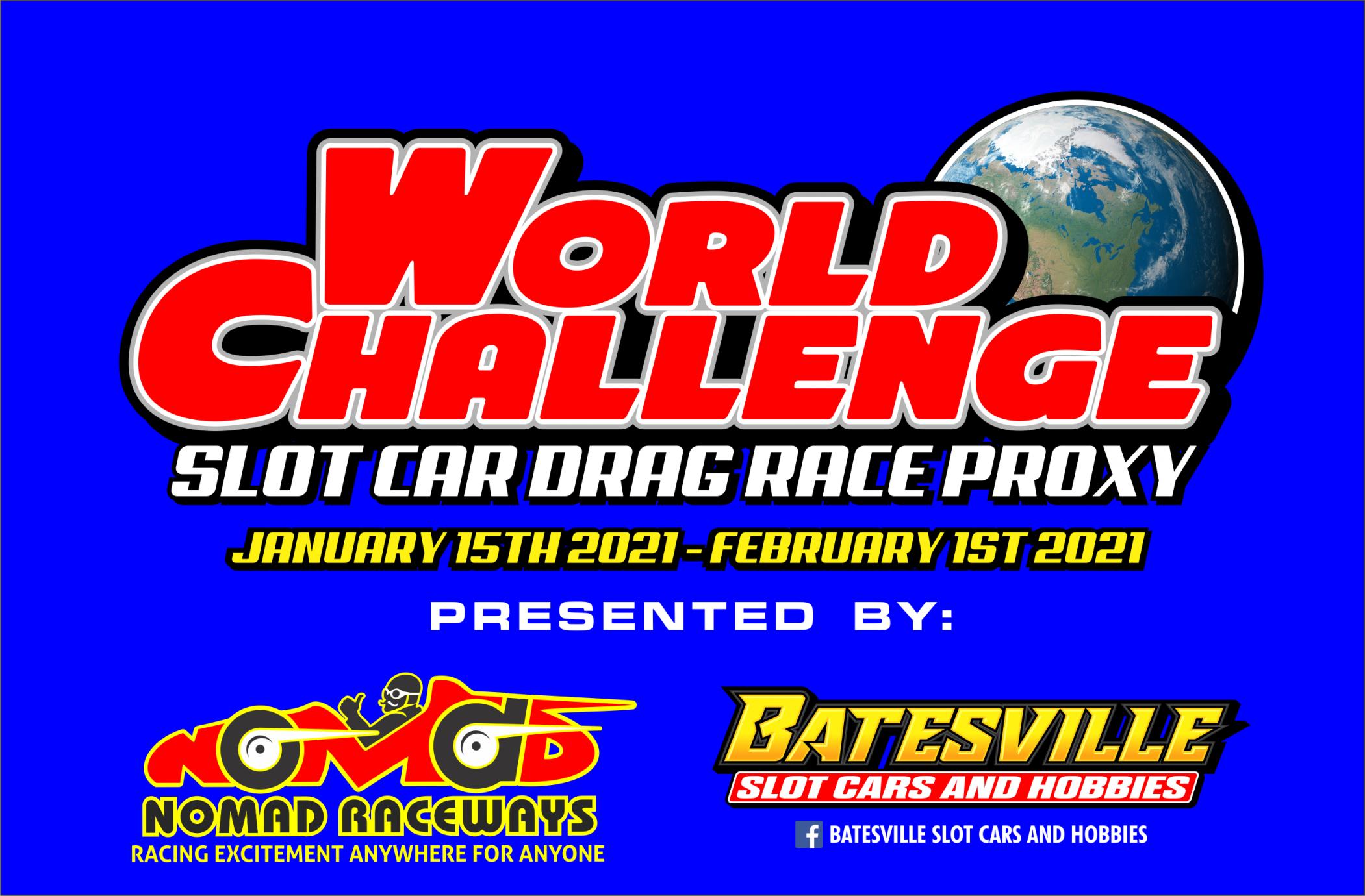 Slot Car Drag Proxy World Challenge Header