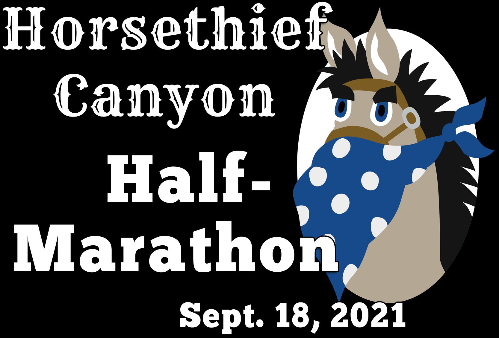 2021 Horsethief Canyon Half Marathon logo