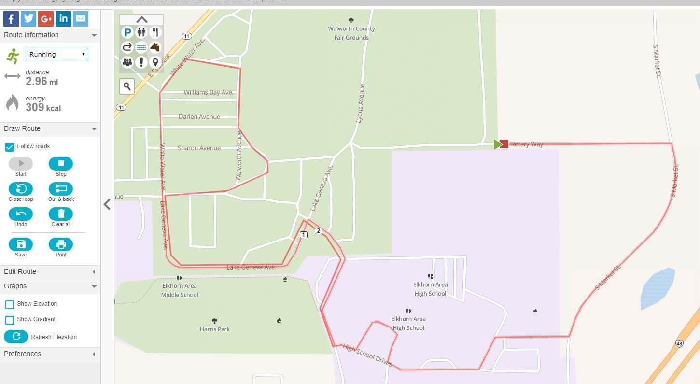 5K Route for DAS Run
