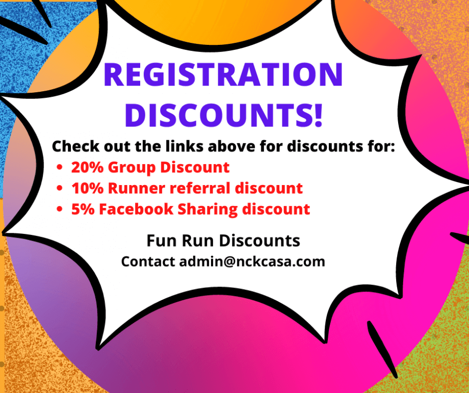 REGISTRATION Discounts Available!