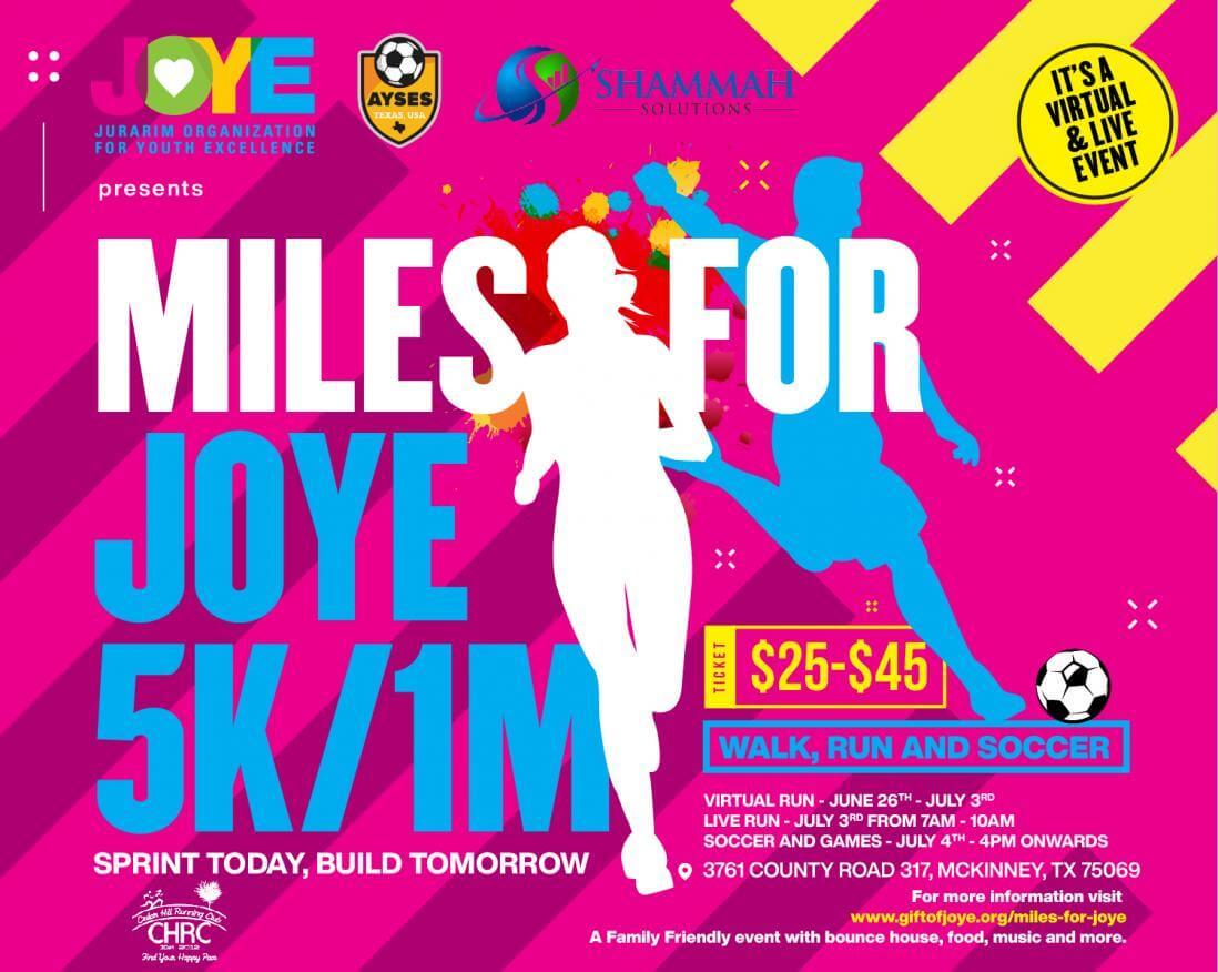 Miles for JOYE 2021