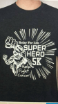 Relay for Life Superhero 5k registration logo