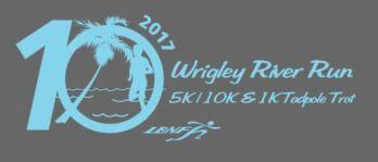 10th Annual Wrigley River Run 5/10/15K registration logo