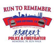 16th Annual Police Officers & Firefighter Memorial 5k registration logo