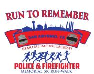16th Annual Police Officers & Firefighter Memorial 5k registration logo