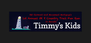 1st Annual 5K X-Country Trail Fun Run to Benefit Timmy's Kids registration logo