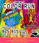 1st Annual Community Color Run registration logo