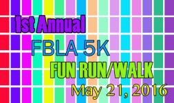 1st Annual FBLA 5K Fun Run/Walk registration logo