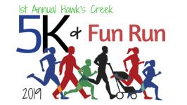 1st Annual Hawk's Creek 5k & Fun Run registration logo