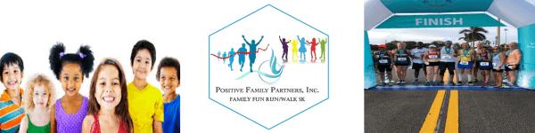 1st Annual Positive Family Partners 5K registration logo