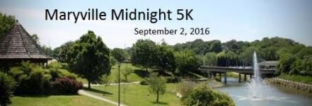 1st Annuel Maryville Midnight 5k registration logo