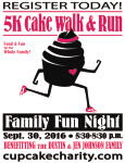 5k Cake Walk and Run  registration logo