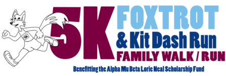 2016 AMB Fox Trot 5K & Kit Dash registration logo