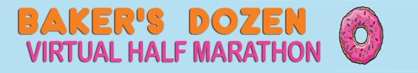 2017 Baker's Dozen Virtual Half Marathon registration logo
