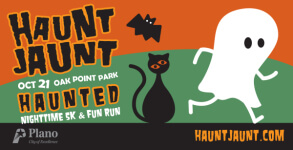 Plano Haunt Jaunt Nighttime 5K and 1-Mile Fun Run registration logo