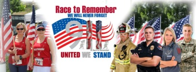 Race to Remember - 911 - UNITED WE STAND registration logo