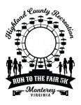 2019 Run to the Fair 5k Fun Run registration logo